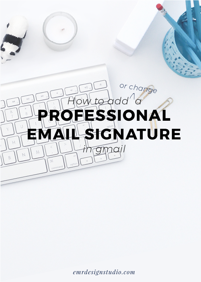 how to gmail signature